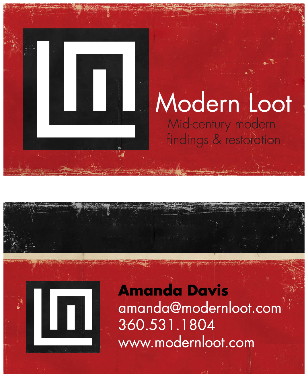 Modern loot logo and business cards splint media modern loot logo and business cards modern loot reheart